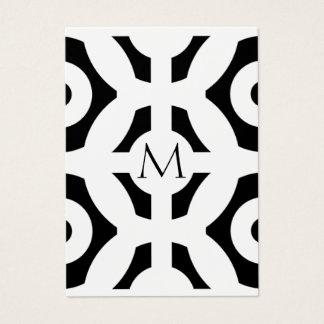 幾何学的なパターン チャビ―名刺