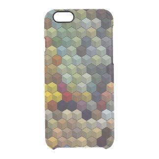 幾何学的なパターン|多彩な立方体/ブロック クリアiPhone 6/6Sケース