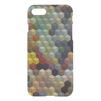 幾何学的なパターン|多彩な立方体/ブロック iPhone 7ケース