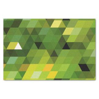 幾何学的なパターン 緑の三角形 薄葉紙