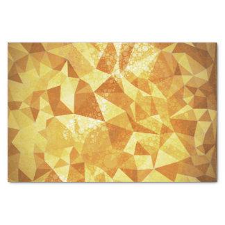 幾何学的なパターン 黄色い三角形および円 薄葉紙