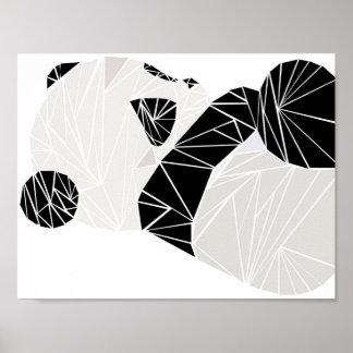 幾何学的なパンダ ポスター