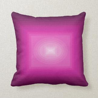 幾何学的なピンクのマゼンタのショッキングピンクの装飾の枕 クッション