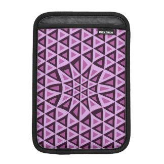 幾何学的なピンクの三角形のiPadの袖のファッションの女の子 iPad Miniスリーブ