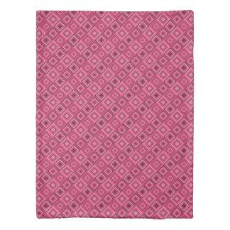幾何学的なピンクの羽毛布団カバー 掛け布団カバー