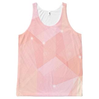 幾何学的なピンク、 オールオーバープリントタンクトップ