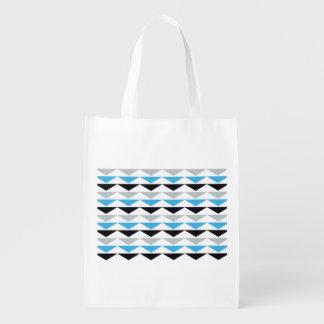 幾何学的なプリントの再使用可能な買い物袋 エコバッグ