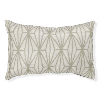幾何学的なプリント犬のベッド、暗灰色