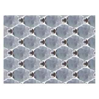 幾何学的なペンギンの集まりのプリント テーブルクロス