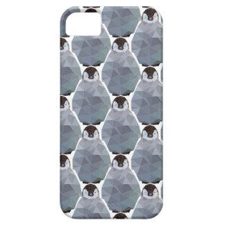 幾何学的なペンギンの集まりのプリント iPhone SE/5/5s ケース