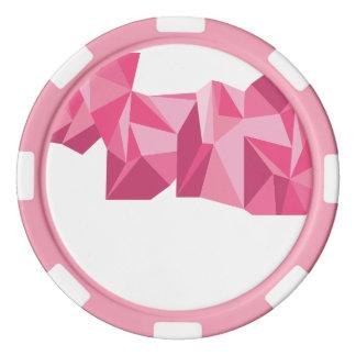 幾何学的なポーカー用のチップ ポーカーチップセット