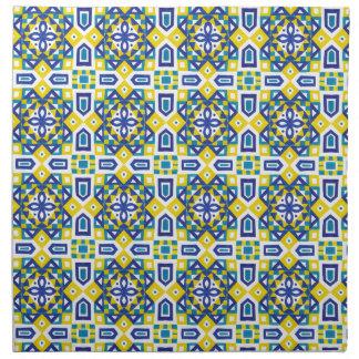 幾何学的なモロッコの水彩画の継ぎ目が無いパターン3 ナプキンクロス