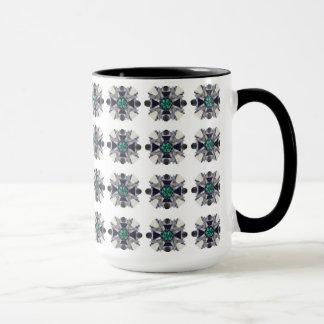 幾何学的なラベンダー マグカップ