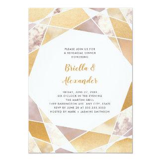幾何学的なリハーサルの夕食|ののどの金ゴールドの大理石 カード
