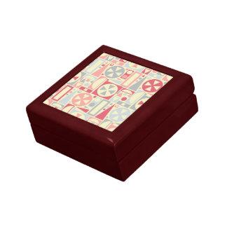 幾何学的なレトロの50年代の世紀半ばのモダンのピンク ギフトボックス