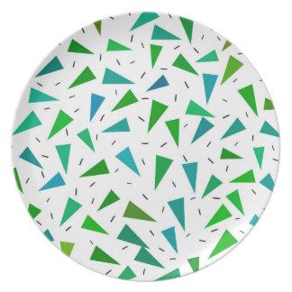 幾何学的な三角形モダンなパターン プレート