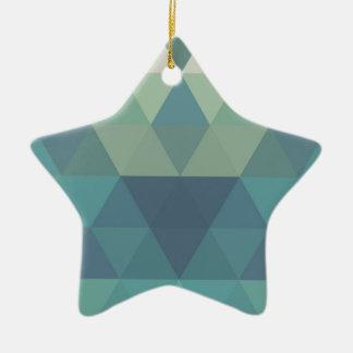 幾何学的な三角形 セラミックオーナメント
