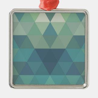 幾何学的な三角形 メタルオーナメント