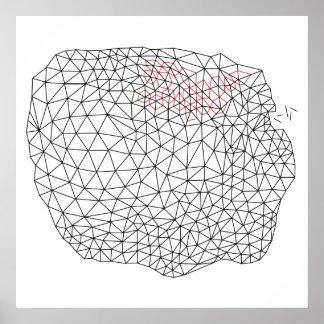 幾何学的な三角測量のデザイン ポスター