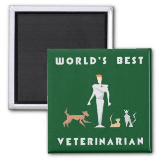 幾何学的な世界で最も最高のな獣医 マグネット