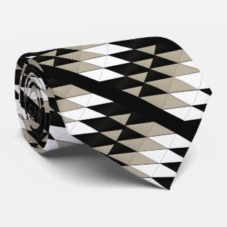 幾何学的な中立色のタイ オリジナルネクタイ