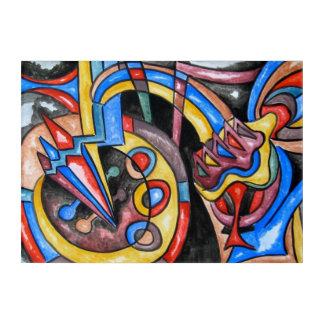 幾何学的な地球大気圏外ジャズ近代美術 アクリルウォールアート