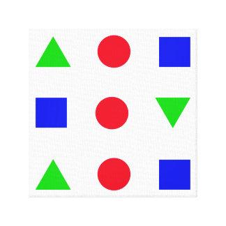 幾何学的な姿色のdécor キャンバスプリント
