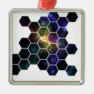 幾何学的な宇宙 メタルオーナメント