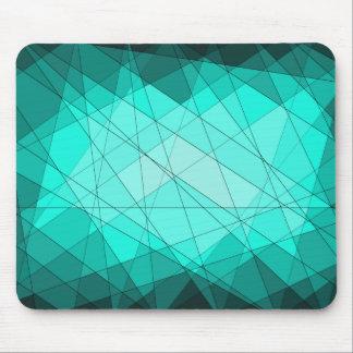 幾何学的な宝石用原石のダイヤモンドのデザイン マウスパッド