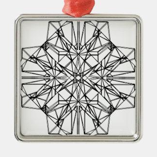 幾何学的な対称 メタルオーナメント
