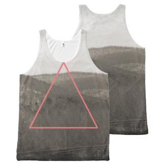 幾何学的な山地 オールオーバープリントタンクトップ
