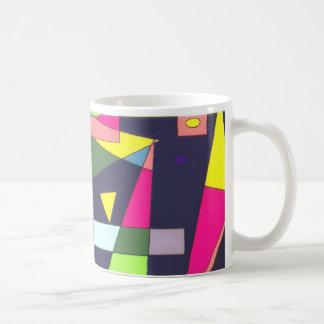 幾何学的な形のクラシックで白いマグ コーヒーマグカップ
