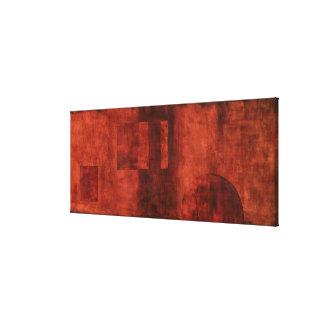 幾何学的な形の深い深紅色の絵画 キャンバスプリント