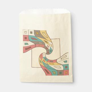 幾何学的な抽象芸術 フェイバーバッグ