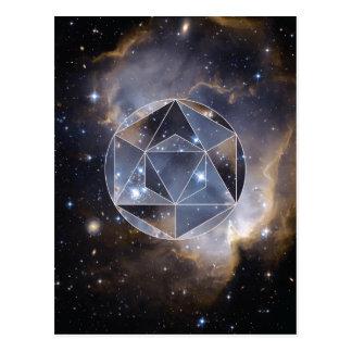 幾何学的な星団 ポストカード