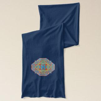 幾何学的な曼荼羅のスカーフ/ショール スカーフ