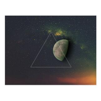 幾何学的な月 ポストカード