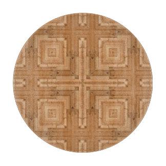 幾何学的な木製のデザイン-建築家の木パターン カッティングボード