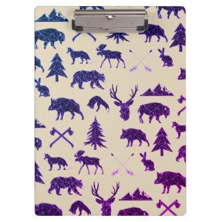 幾何学的な森林動物|の動物の用箋挟