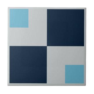 幾何学的な正方形のブルーグレーのレトロがあるためにお尻をタイルを張って下さい タイル