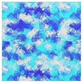 幾何学的な氷の水および青海原の水晶の抽象芸術 ファブリック