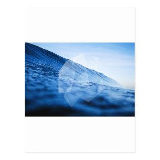 幾何学的な波 ポストカード