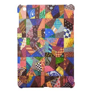 幾何学的な熱狂するなキルトのパッチワークキルトの抽象美術 iPad MINIカバー