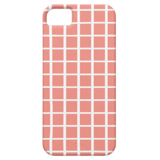 幾何学的な珊瑚の正方形パターン iPhone SE/5/5s ケース