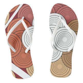 幾何学的な着色された革紐 ビーチサンダル