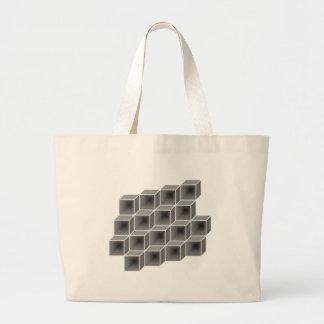 幾何学的な箱 ラージトートバッグ