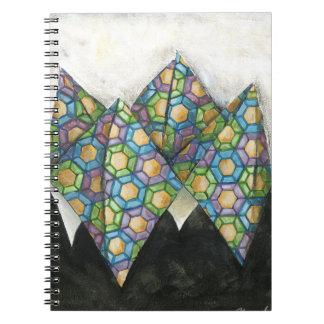 幾何学的な紙のOrigamiの占い師 ノートブック