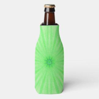幾何学的な緑の万華鏡のように千変万化するパターンのスポークのボトルのクーラー ボトルクーラー