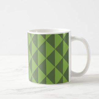 幾何学的な緑の緑葉カンランの緑の草木の矢パターン コーヒーマグカップ