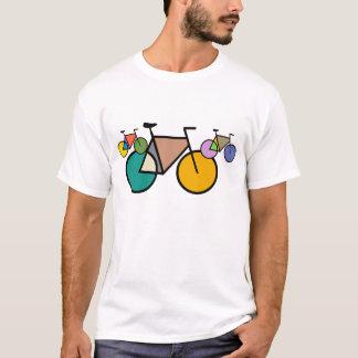 幾何学的な自転車の芸術のTシャツ Tシャツ